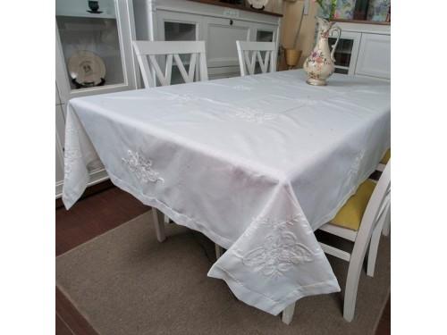 Льняная скатерть на кухонный стол с вышивкой 303 303 от ALLTEX в интернет-магазине PannaTeks