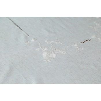 Льняная скатерть на стол с вышивкой 304 фото 1