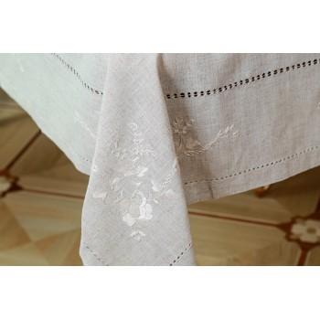 Льняная скатерть на стол с вышивкой 304 фото 2