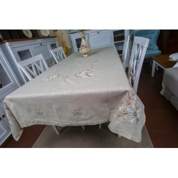 Льняная скатерть с вышивкой 73 Китай фото 2