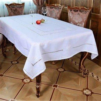 Льняная скатерть на стол с вышивкой круглая/прямоугольная 118 118 от ALLTEX в интернет-магазине PannaTeks
