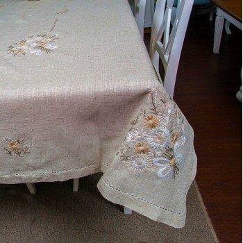 Льняная скатерть с вышивкой 73 Китай
