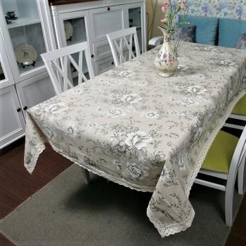 Скатерть на стол из хлопка Цветочный прованс, Украина