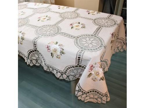 Льняная скатерть вязаная с вышивкой 661 661 от ALLTEX в интернет-магазине PannaTeks