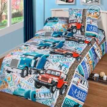 Детское постельное белье в кроватку бязь Автобан Автобан от Царский Дом в интернет-магазине PannaTeks