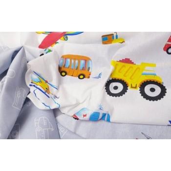 Детское постельное белье бязь Моторчик фото 3