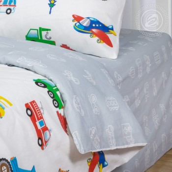 Детское постельное белье бязь Моторчик фото 2