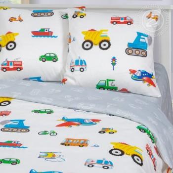 Детское постельное белье бязь Моторчик фото 1