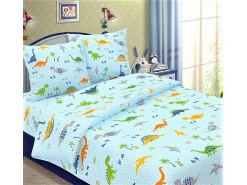 Детское постельное белье бязь Динозаврики на голубом Динозаврики на голубом от Царский Дом в интернет-магазине PannaTeks