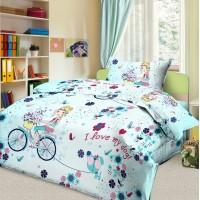 Детское постельное белье в кроватку бязь Элли и пес