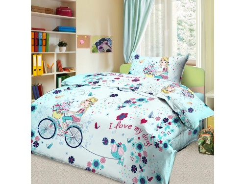 Детское постельное белье в кроватку бязь Элли и пес Элли и пес от Царский Дом в интернет-магазине PannaTeks