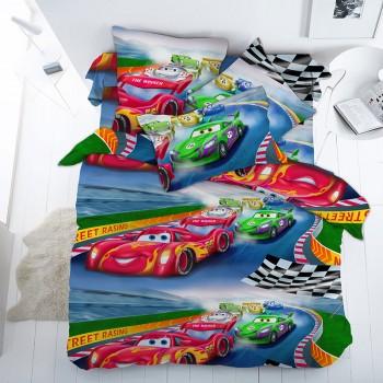 Детское постельное белье в кроватку бязь Гонки
