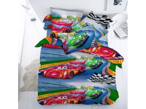Детское постельное белье в кроватку бязь Гонки Гонки от Царский Дом в интернет-магазине PannaTeks