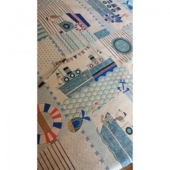 Детское постельное белье в кроватку бязь Кораблики фото 2