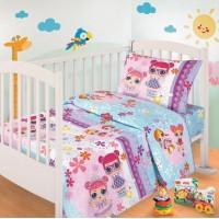 Детское постельное белье в кроватку бязь Лола