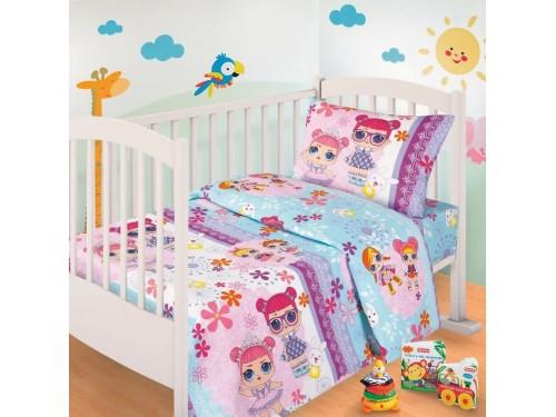 Детское постельное белье в кроватку бязь Лола Лола от Царский Дом в интернет-магазине PannaTeks