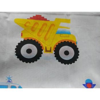 Детское постельное белье в кроватку бязь Моторчик фото 5