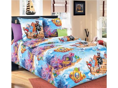 Детское постельное белье в кроватку бязь Пираты Пираты от Царский Дом в интернет-магазине PannaTeks