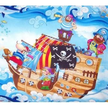 Детское постельное белье в кроватку бязь Пираты фото 1
