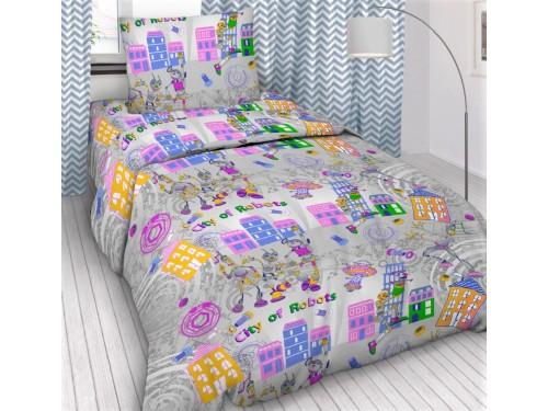 Детское постельное белье в кроватку бязь Робогород Робогород от Царский Дом в интернет-магазине PannaTeks