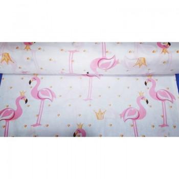 """Комплект белья подростковый бязь """"Розовые Фламинго"""" фото 1"""