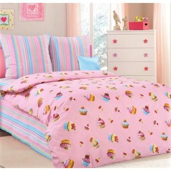 Детское постельное белье для девочки бязь Сластена