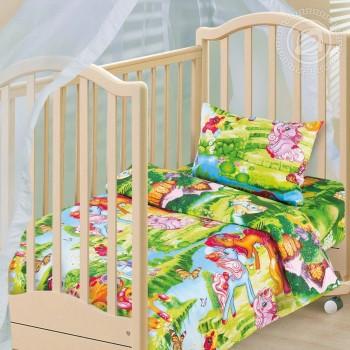 Детское постельное белье в кроватку бязь Волшебные сны