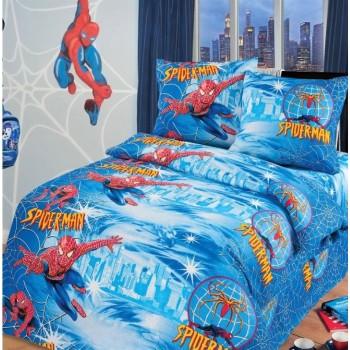Детское постельное белье в кроватку бязь Спайдермен