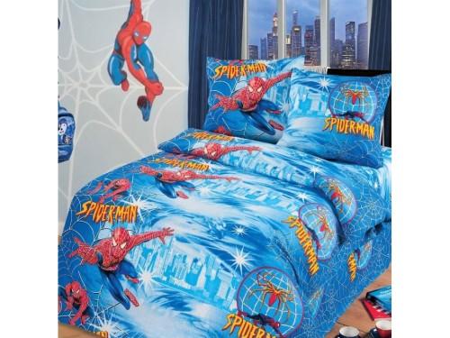 Детское постельное белье в кроватку бязь Спайдермен Спайдермэн от Царский Дом в интернет-магазине PannaTeks