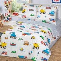 Детское постельное белье в кроватку бязь Моторчик