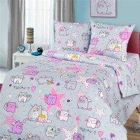 Детское постельное белье в кроватку бязь Мяу-мяу