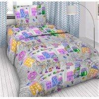 Детское постельное белье в кроватку бязь Робогород
