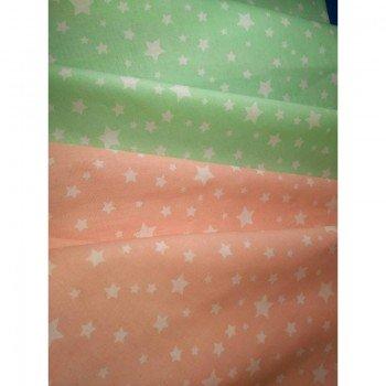 Детское постельное белье в кроватку бязь Звездопад мятный фото 2