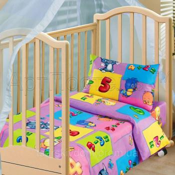 Детское постельное белье в кроватку бязь Забавный счет
