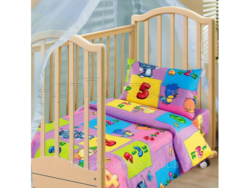 Детское постельное белье в кроватку бязь Забавный счет Забавный счет от Царский Дом в интернет-магазине PannaTeks