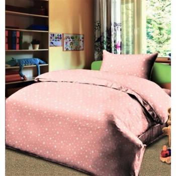 Детское постельное белье в кроватку бязь Звездопад персиковый