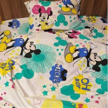 Постельный комплект в кроватку Минни Маус ранфорс