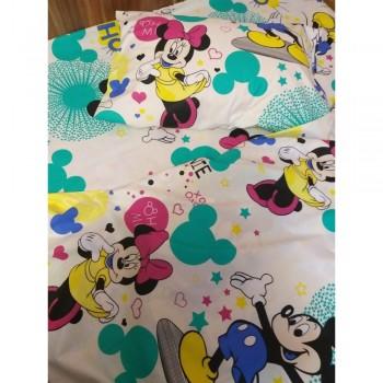 Детское постельное белье в кроватку ранфорс Минни Маус  фото 3