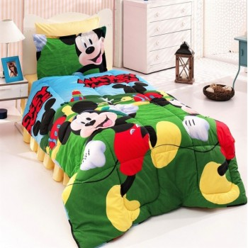Постельный комплект в кроватку ранфорс Микки Маус 3Д