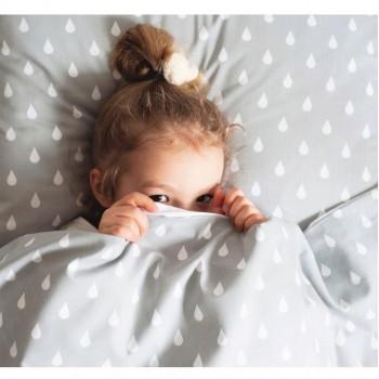 Детское постельное белье в кроватку ранфорс люкс Капли 0970 от Царский Дом в интернет-магазине PannaTeks