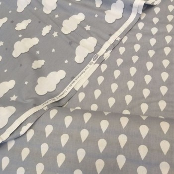 Детское постельное белье в кроватку ранфорс люкс Капли фото 3