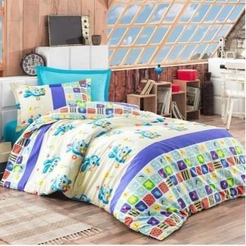 Постельный комплект в кроватку Малышарики-Смешарики ранфорс