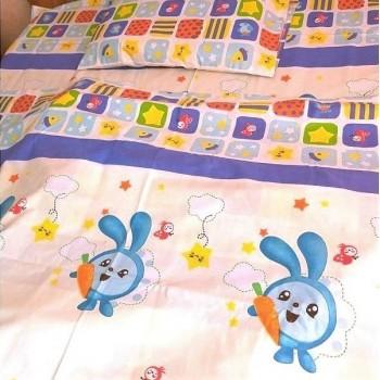 Детское постельное белье в кроватку Малышарики-Смешарики ранфорс фото 1