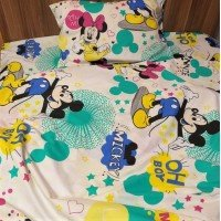 Детское постельное белье в кроватку ранфорс Минни Маус