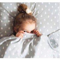 Детское постельное белье в кроватку ранфорс люкс Капли