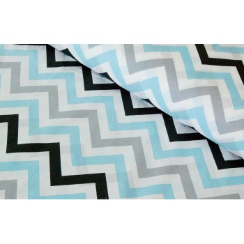 Детское постельное белье поплин Звезды-прянички голубые фото 1