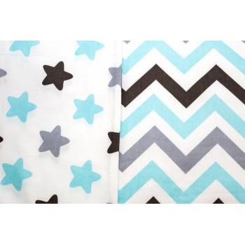 Детское постельное белье поплин Звезды-прянички голубые фото 2