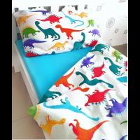 Детское постельное белье в кроватку поплин Дино-пати