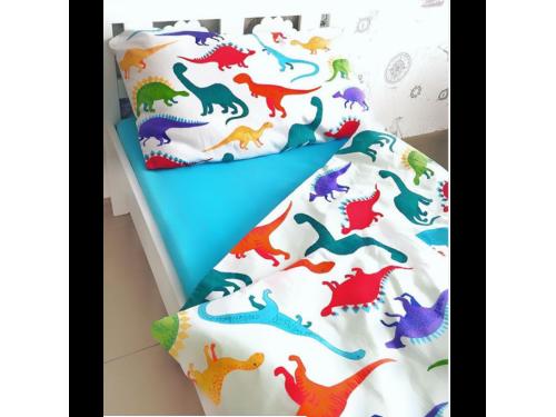 Детское постельное белье в кроватку поплин Дино-пати Дино-пати  от Царский Дом в интернет-магазине PannaTeks