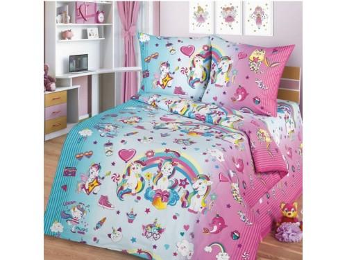 Детское постельное белье в кроватку поплин Единорожки Единорожки  от Царский Дом в интернет-магазине PannaTeks